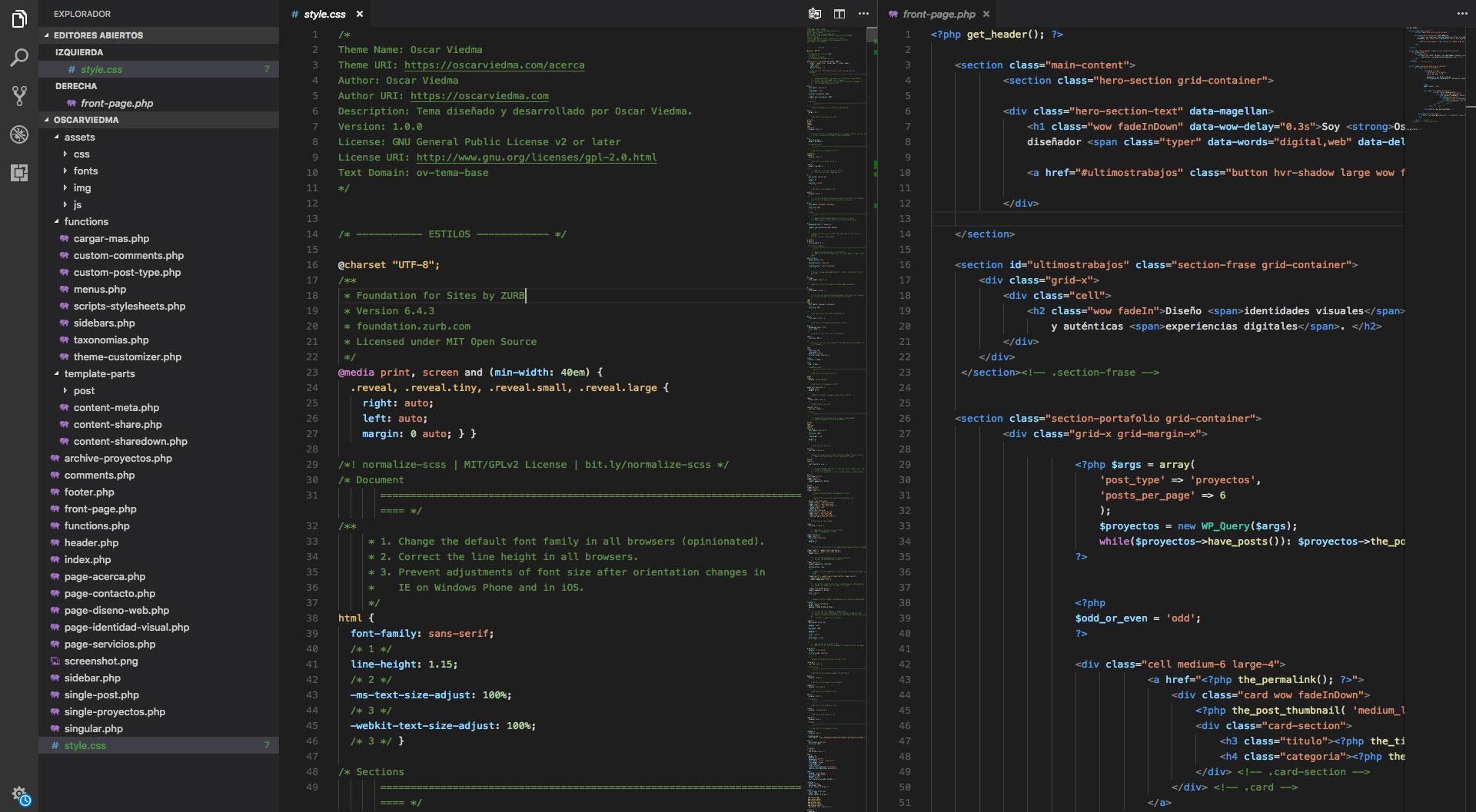 Código sitio Oscar Viedma
